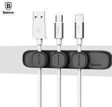 Baseus Magnético Titular de Alambre Organizador De Cable USB escritorio ordenado iPhone Samsung UK