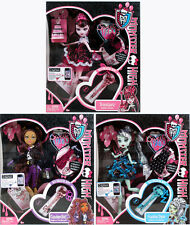 Original 3 Monster High Sweet 1600 Dolls - Draculaura + Frankie + Clawdeen - New