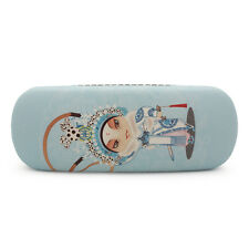 1PC Blue Opera Character Printing Glasses Case Hard Faux Leather Storage Box