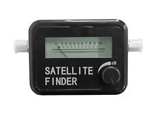 LED SATELLITE FINDER WITH AUDIBLE IN LINE INPUT FREQUENCY SIGNAL STRENGTH METER