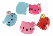 Resin Hello Kitty Cats Flower Gem Rhinestones Flat Back Embellishments Cabochon