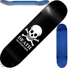 "DEATH ""OG Skull"" Skateboard Deck 9.0"" x 32"" 14.25"" WB BLACK Park Ramp Pool Vert"