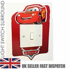 Disney cars light switch surround sticker cover vinyle lightning mcqueen peau