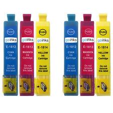 6 C/M/Y Cartuchos De Tinta Para Epson Expresión Hogar XP-225 XP-322 XP-325