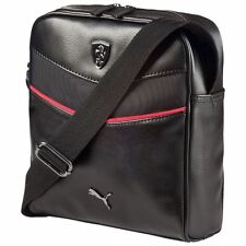 NEW PUMA FERRARI F1 TEAM PORTABLE SIDE SHOULDER MESSENGER BAG BLACK PREMIUM