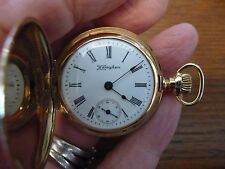 Gorgeous HAMPDEN DUEBER 14K Pendant Pocket Watch-Full Hunting-c1899-Working-15J