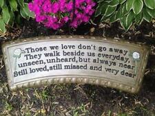 Concrete Bench Mold top Those we Love  Top Only Memorial Bench