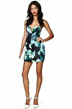 Shakuhachi Womens Bonded Tulip Floral Bustier Mini Dress S Small Nasty gal 4 6