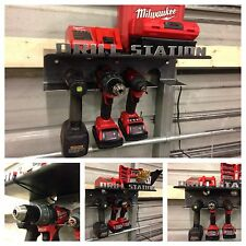 Drill Station - Up tp 4 Drills + Batteries & Bits! Milwaukee DeWalt Makita Rack