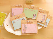 5 x Novelty Cute Lovely Doll Sticky Notes Sticker Marker Memo Notepad Party Gift