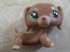 Littlest Pet Shop RARE Dachshund Dog Puppy #1751 Brown Tan Mocha LPS