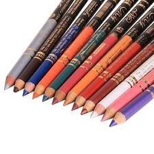 12pcs Eye Shadow Glitter Lip liner Eyeliner Pencil Pen Cosmetic Makeup Sets Q