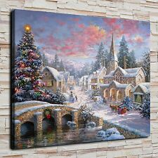 Merry Christmas Painting HD Print on Canvas Home Decor Wall Art Picture posters