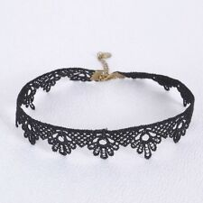 Gothic Black Lace Retro Choker Collar Necklace Jewelry Lace Flower Pendant