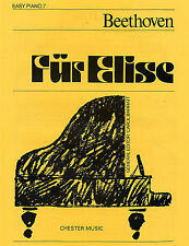 Beethoven Fur Elise Easy Piano No.7 Learn to Play Beginner Sheet Music Book