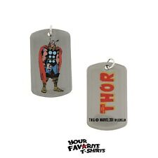 The Mighty Thor Dog Tag Necklace Marvel Comics Licensed
