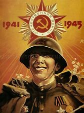 PROPAGANDA WWII RED ARMY VICTORY SOVIET USSR COMMUNISM RED POSTER PRINT BB2816A