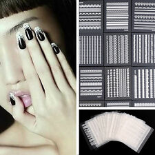 Fashion 30 Sheets 3D Lace Nail Art Stickers Manicure Accessories Tips