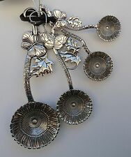 Sunflower Butterfly MEASURING SPOON SET fancy kitchen utensil Ganz housewarming