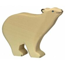 NEW WOODEN Holztiger Polar Bear Head up Toy Animal HT80206