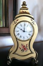 Prexim Antique Hand Painted Mantle Clock Made in Switzerland