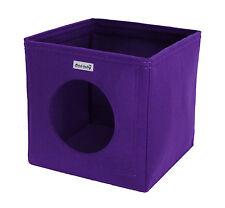 Katzenkorb Katzenbett Katzenhöhle Bett Filz lila p. für Ikea Expedit Kallax Cat