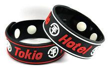 TOKIO HOTEL 2x Rubber Bracelet Wristband NEW Free Shipping! Ready, Set, Go! ww16
