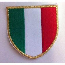 [Patch] SCUDETTO ITALIA bordo sottile cm 5 x 5 toppa ricamata termoadesiva -340