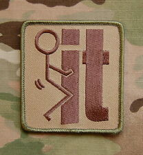 Multicam F**k F It Tactical Morale Patch VELCRO® Brand Fastener Backing