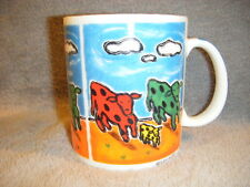 "CHALEUR "" WONDERFUL WORLD"" COWS MUG CUP SHINDO"