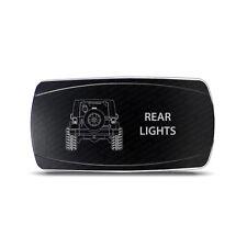 Rocker Switch Jeep Wrangler JK Rear Lights Symbol - Horizontal - White LED