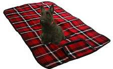 DOG Pet Tartan Pavimento Letto Tappetino & Car Seat Cover Rug IMPERMEABILE-UNIVERSALE