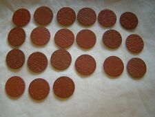 Set of 21 Opa Red Point 1 Ration Tokens All Different Letters World War II