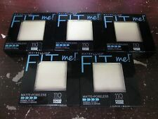 5 MAYBELLINE FIT ME PRESSED POWDER -110-  EXP: 8/17+    RR 18447