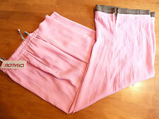 CHALOU PINK LOOSE LEG CRINKLE LOOK TROUSERS  UK 22   BNWT