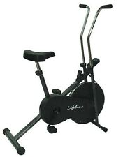 Lifeline Branded 102 cycle home gym fitness cardio air bike with display *-