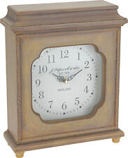 Wooden Table Clock Traditional Style Mantle Clock Desk Clock Distressed Finish