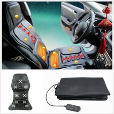 A Car Back Massage Chair Home Heated Seat Cushion Lumbar Neck Pain Pad Massager