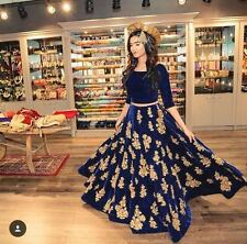 Indian Bollywood Designer Anarkali Gown Dress Lehenga Blouse Skirt Ethnic Dress
