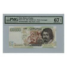 *jcr_m* ITALY 100000 LIRE 1994 P.117B PMG MS-67 *UNCIRCULATED*