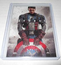 Marvel Movie Credits Trading Card Captain America The First Avenger #1