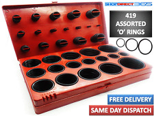 419 Pcs Rubber O Ring Oring Seal Plumbing Garage Set Kit 32 Sizes With Case 4-34