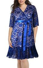NEW~Women SIZE XL~Blue Lace Dress~Formal/Wedding/Bridesmaid Dress~Retail $139.00