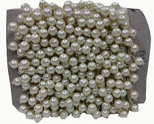 7mtr Tassle style pearl beads white ribbon