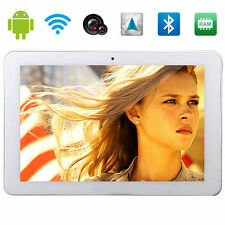 "10.1"" Google Android4.4 Quad-Core 16GB Touch 3G Tablets Wifi Dual SIM GPS white"