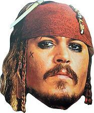 Capitaine Jack Sparrow masque en carton Pirates des Caraïbes Livraison gratuite!