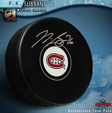 P. K. SUBBAN Signed Montreal Canadiens Puck