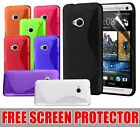 GRIP S-LINE WAVE GEL CASE FOR HTC ONE (M7) + FREE SCREEN PROTECTOR