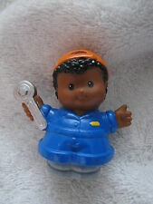 Fisher Price Little People MICHAEL AUTO MECHANIC for CAR REPAIR GARAGE in Blue