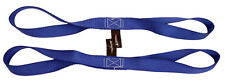 """18"""" Blue Tie Down Extension Soft Touch Loops Straps 4500lbs Motorcycle ATV"""